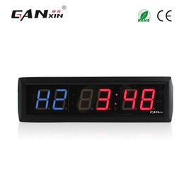 Wholesale Wall Clocks Timers - [GANXIN] Internal Training Timer Gym Boxing Tabata Stopwatch Led Wall Clock for Fitness W remote Control
