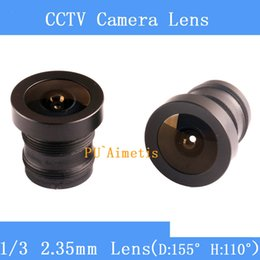 c monter cctv Promotion Lentille de vidéosurveillance de haute qualité 1/3 2.35mm 150 degrés grand angle M12 pour caméra de vidéosurveillance
