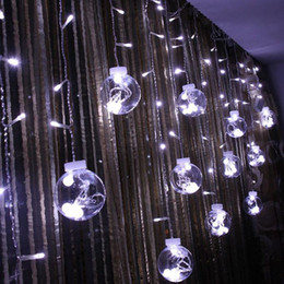 Wholesale Twinkling Led Christmas Lights Strings - DHL Globe String Lights 108LED warm white Twinkle Lights with 8 Modes Controller & Transparent String Cable-for Party Garden Wedding Decor