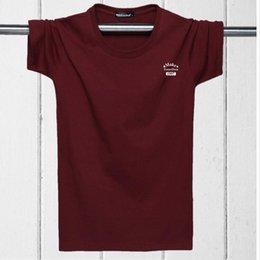 Wholesale Men Clothing Foreign - Foreign trade cotton men's clothing short sleeve T-shirt easing the yards fertilizer plus-size fat fat man and a half sleeve T-shirt