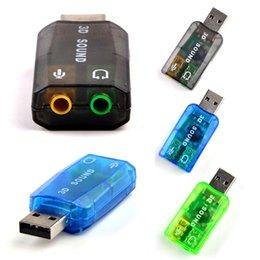 Wholesale External Laptop Sound Card - High Quality USB Sound Card 5.1 External USB Sound Card 3D Sound USB Flexible Audio Interface for Desktop or Notebook Laptop systems.