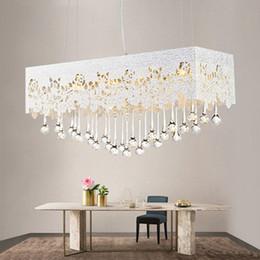 Wholesale Led Lamp Livingroom - Modern Indoor LED Pendant Lamp Crystal Dining Room Droplight Fixture Livingroom Contracted Chandelier AC90-260V lighting fixture