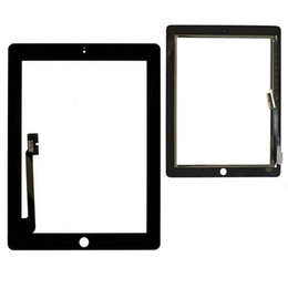 Adhesivo digitalizador 3m online-El panel de tacto de la tableta para el iPad 3 de la pantalla táctil de 9,7 pulgadas de cristal delantero + 3M adhesiva doble