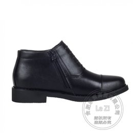 Wholesale Cowhide Top Boots - High Top Military Men Boots Bandage Side Zip Cowhide Business Cotton Padded Warm Real Leather New Arrival Thread Fleece Casual