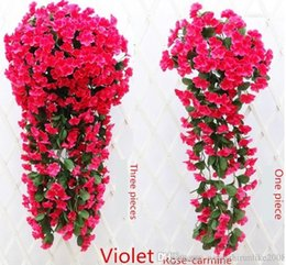 Wholesale Christmas Decorations Wholesale Prices - Romantic wedding anniversary room Decorations silk flowers Simulation hydrangea violet hang flowers free shipping in low price on hot sale