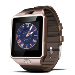 Wholesale Watch Cell Phone Inch - Top Quality Smartwatch Latest DZ09 Bluetooth Smart Watch With SIM Card For Android apple Samsung IOS Android Cell phone 1.56 inch