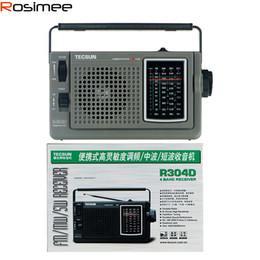 2019 radio sensible Vente en gros-100% d'origine Tecsun / Desheng R-304D R304D hautement sensible radio FM / MW / ondes courtes récepteur numérique Récepteur radio portable radio sensible pas cher