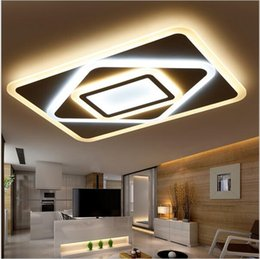 Wholesale Dimmer Led Lamp - New Acrylic Dimming Ceiling Lights For Living Study Room Bedroom Home Dec plafonnier AC85-265V Modern Led Ceiling Lamp Fixtures