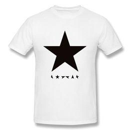 Wholesale David Bowie T Shirt - Men's Cool David Bowie Blackstar Album Cover Tshirt X-Large White Printed T-Shirt Men'S Short Sleeve O-Neck T-Shirts Summer