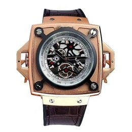 Wholesale Big Face Mens Sports Watches - luxury brand watch gold case skeleton skull face mens aaa replicas master wristwatches big bang geneve business men clasic watches