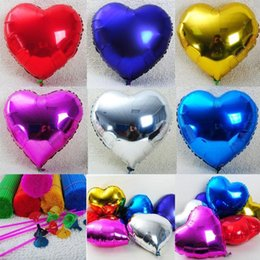 Wholesale Heart Shape Balloon Decoration - Aluminium Balloon Love Heart Shape Wedding Decoration 10 Inch Party Birthday Air Balloon Wholesale Drop Shipping