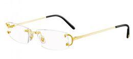 Silberne scharniere online-Luxus Legierung Randlose Gold Silber Brillengestell Frauen Mann Aufklappbare Glasrahmen Buffalo Horn Brillen Oculos Lunette De Soleil