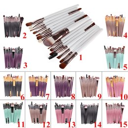 Wholesale Make Up Kit Prices - DHL Professional Makeup Brushes Sets 15 pcs Cosmetic Kits Powder Foundation Eyeshadow Brush Make Up Tools Cheap Price High Quality