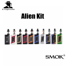Wholesale 3ml Atomizers - Authentic Smok Alien Starter Kit 22mm Diameter 220W Battery Mod OLED Display 3ml Atomizer Capacity 510 Thread