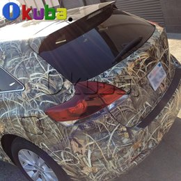 Wholesale Camo Vinyl Wrap Roll - camouflage film Grass Shadow Camo Wrap Roll for Truck Jeep SUV Graphics Real Camo Tree Camouflage Vinyl Film Full Body