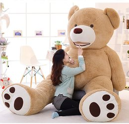 Wholesale Empty Bear Toys - Wholesale- Huge Size 130cm 200cm Giant Bear Skin Empty Soft ToysSuper Quality Plush Gifts Toys for Lovers HT3711