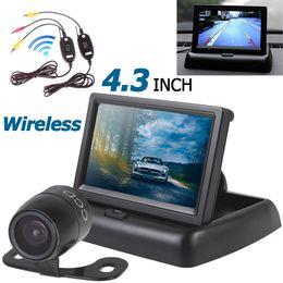 Wholesale Waterproof Transmitter Video - 4.3 Inch HD Car Rear View Monitor+ Waterproof Night Vision Car Backup Camera + Video Transmitter and Receiver Kit CMO_51P