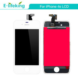 Wholesale Iphone 4s Lcd Screens - Good AAA Quality For iPhone 4 4s LCD Display Touch Digitizer Complete Screen with Frame Full Assembly Replacement + Free DHL Fedex Shipping