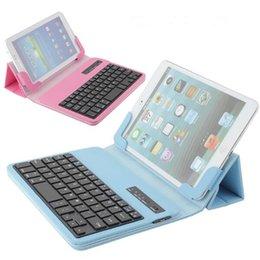 Wholesale Colorful Keyboard Tablet Covers - Ultra-Thin Universal PU Leather Wireless Bluetooth Keyboard Cover Case Holder Colorful For Tablet PC For iPad mini 2 3 Samsung N5100 P3100