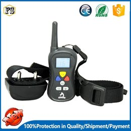 Wholesale Remote Electric Dog Training Collar - Latest dog training bark collars barking deterrents electric shock collars remote control training clicker rechargeable waterproof PTS008