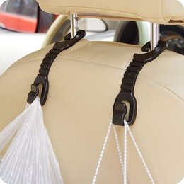 Wholesale Drop Hangers - Wholesale- Delicate 2 Pcs Hot Car Auto Fastener & Clip Portable Seat Hanger Purse Bag Organizer Holder Hook New Dropping Shipping