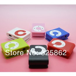 Wholesale Cheapest Micro Sd - Wholesale- Hot Sell 1pcs lot Cheapest Mini C Key Clip MP3 Music Player Gift MP3 Player Support Micro SD TF Card 6 Colors Free Shipping