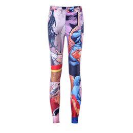 Wholesale Cute Sportswear - Wholesale- Free shipping New 2015 Women Pants Womens Trousers Fashion girl's Cartoon characters Pant Capris Cute sportswear Fitness