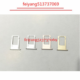 Wholesale Iphone Sim Part - 100pcs A quality New Nano Sim Card Tray Slot Holder Replacement Parts For iPhone 6 6S 6 plus 6s plus Gold Gray Siver Rose