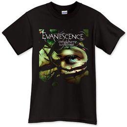 Argentina Nuevo Evanescence Rock Band Camiseta negra Camiseta Talla S M L XL 2XL 3XL Camisas para hombre Ropa de manga corta Suministro