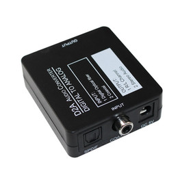 Wholesale Analog Digital Audio Converter - Wholesale- D2a audio converter digital to analog , D2A Optical Coaxial Toslink Digital to Analog RCA L R Audio Converter