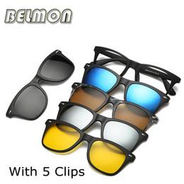 Großhandels-Mode-Spectacle-Rahmen-Mann-Frauen mit 5 Stück-Klipp auf Sonnenbrille polarisierte magnetische Gläser männliches fahrendes Myopie optisches RS120 von Fabrikanten