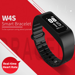 Wholesale Remote Alert - Smartband W4S Sport Waterproof Smart Bracelet Support Pedometer Heart rate Body Temperature Message Call Alert Smart wristband