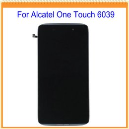 Wholesale free one touch - Wholesale- 4.7 inch For Alcatel one touch idol 3 OT6039 6039 LCD Screen Display with Touch Screen Digitizer with Frame Free Shipping