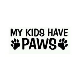 Wholesale Pet Doors For Cats - 18*7.5CM MY KIDS HAVE PAWS Animals Pets Dogs And Cats Window Car Stickers Reflective Stickers Decals For opel vw bmw ford Car