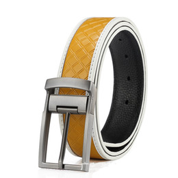 Wholesale Boys Waistband - New Arrival - Brand Genuine Leather Belts for Men Waistband, 4 Color Needle Buckle Casual Cowskin Belts Boys Girdle 2016 NEW Men Accessories