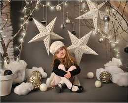 Wholesale Canvas Paintings For Christmas - 150X220cm Vinyl Photography Background Christmas star Computer Printed Custom children Photography Backdrops for Photo Studio F-2212