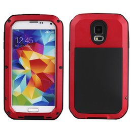 Wholesale Galaxy S4 Cases Aluminum - Shockproof Waterproof Power Aluminum Gorilla Glass Protect Phone Cover for Samsung Galaxy S3 S4 S5 S6 S7 Edge Note 4 5