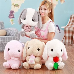 Wholesale August Specials - 161129 Hanging Rabbit Dolls Plush Toys Long Ear Bunny Birthday Lover Gift Little White Rabbit Doll Pillow Doll August Specials New Products