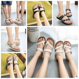 Wholesale Lady Heels Sandals Wholesale - Lady Cork Flip-flops Beach Sandles Antiskid Slippers Summer Beach Shoes PU Leather Slippers Vogue Cool Slipper Casual Sandals CCA5838 50pair
