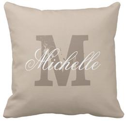 Wholesale Purple Outdoor Pillows - High quality wholesale factory direct custom custom monogram taupe beige outdoor throw pillow 16 inch 18inch 20inch