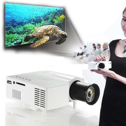 Wholesale Home Theater Multimedia Projector - Wholesale-Mini Home Cinema Theater 1080P HD Multimedia USB LED Projector AV TV VGA HDMI ANG
