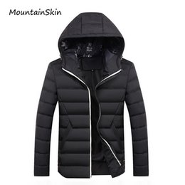 Wholesale thick winter clothes - Wholesale- Mountainskin 2017 New Men's Winter Jacket Fashion Warm Thick Male Parkas Men Casual Thermal Men Coats Branded Clothing LA198