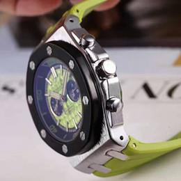 Wholesale Sport Quartz Japan Movt - Top Brand man luxury Watch Royal Oak man wristwatch japan movt quartz replicas Chronograph fashion rubbler band famous brand ladies Watches