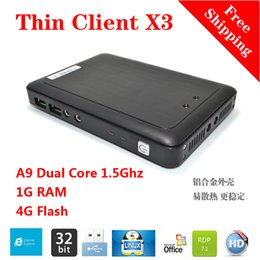 Wholesale Client Servers - Linux Thin Client Cloud Computer X3 with A9 Dual Core 1.5Ghz 1G RAM 4G Flash Linux 3.0 Embedded RDP 7.1 Protocol