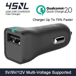 Argentina Al por mayor-Quick Charge QC 2.0 Adaptador de cargador de coche USB DC 5V / 9V / 12V 12W Smart Fast Car-Charger para Xiaomi redmi 3 / mi4 / mi3 Samsung galaxy s6 cheap xiaomi adapter charger Suministro