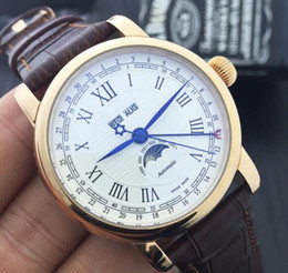 Wholesale Automatic Multifunction Watches - Gift Watch High Quality Top Luxury Brand Watch U0108736 sun moon Multifunction Automatic mechanical wristwatches men relogio automatic Watch