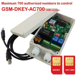 Wholesale Gsm Garage Door Opener - Wholesale- WAFER Free shipping GSM-DKEY GSM gate controller Dual sim card dual standby for garage door gate opener