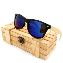 Wholesale Glass Gift Items - Wholesale-2016 Men's Sunglasses Bamboo Legs Polarized Lens Sun Glasses With Wood Gift Boxes Cool Sunglasses for Friend as Gifts Item