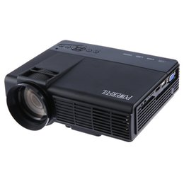 Wholesale Lcd Projector Hdmi Port - Wholesale- POWERFUL Q5 Portable Home Theater 1000 Lumens 1920 x 1080 Pixels Multimedia HD LCD Projector Support HDMI Port