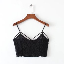 Wholesale Sexy Bosom - Brand New Women's Camisole Sexy The pure color that wipe a bosom Embroidery Lace Edge spring Cotton adjustable shoulder straps Free Shipping